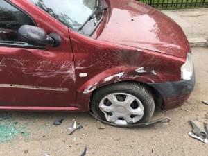 masina distrusa la Botosani