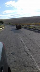 balot cazut din masina la Manoleasa- Ripiceni, Botosani